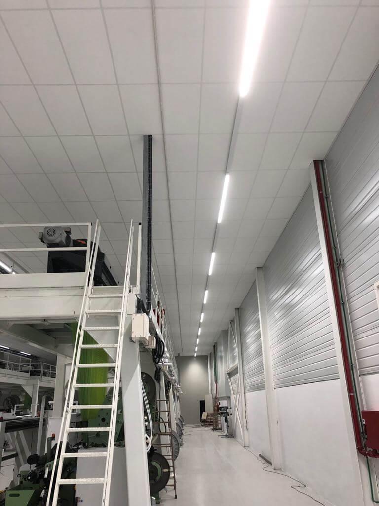 Instalación luminarias Philips carril Inel