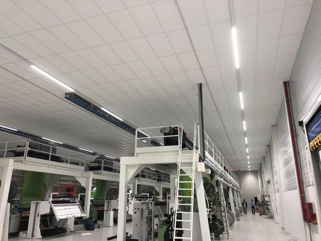 Instalación luminarias nave carril Inel