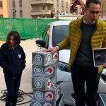 El coche eléctrico en la visita de Inel