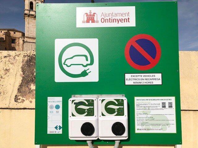 punto recarga vehiculo electrico Ajuntament Ontinyent Inel Fenie