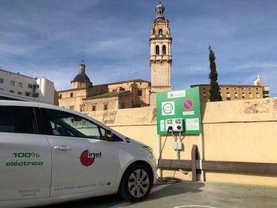 instalacion punto recarga vehículo eléctrico ontinyent