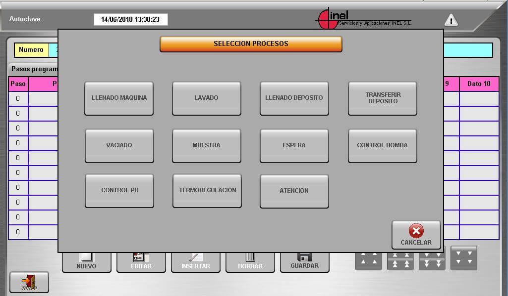 Programación Máquina Autoclave - Inel