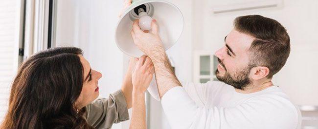 Iluminación eficiente en el hogar