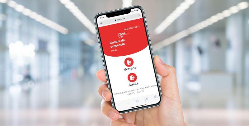app para registro de jornada laboral inel