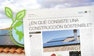 En qué consiste una construcción sostenible
